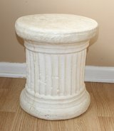 """White Solid Pedestal Side Table 14"""" Tall in Chicago, Illinois"""