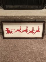 Santa Sleigh and Reindeer Wall Decor in Plainfield, Illinois