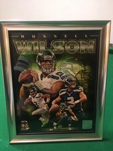 RUSSELL WILSON Authentic Officially Licensed Framed 8x10 Color Photo Collage *** NEW *** in Fort Lewis, Washington