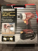 """Chicago electric 18 volt cordless 1/4"""" hex impact driver in Yorkville, Illinois"""