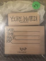 Like new!  Stampin' Up SU Dot Invitation 2 Stamp Set in Chicago, Illinois