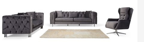 0United Furniture - NEW MATERIAL - Rugatto in Grey - complete with Sleeper Sofa and delivery in Heidelberg, GE