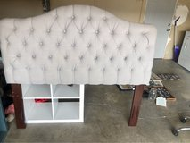 Grey Queen Upholstered Headboard in 29 Palms, California