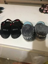 Boy sandals and shark slippers in Fort Campbell, Kentucky