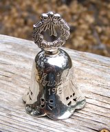 CHRISTMAS BELL ~ SILVER Plate ~ Vintage 1997 in Alamogordo, New Mexico