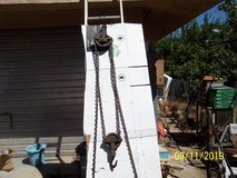 Chain hoist in Yucca Valley, California