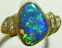 OPALS SET IN 14K & 18K SOLID GOLD RINGS in Okinawa, Japan