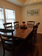 Mango Wood Dining Table and 6 Chairs in Houston, Texas