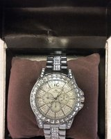 (NIB) Women's Bracelet CZ Diamond Silver Watch in Conroe, Texas