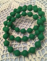 Bracelets Christmas Green Rubber Beads Bangle Style Set of 3 in Kingwood, Texas