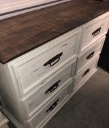 White Distressed Solid Wood Dresser in Spring, Texas