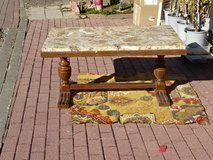 old massiv cafe-table with massiv stone-cover - old heavy quality in Ramstein, Germany