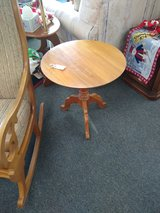 Round Wood Side Table in Naperville, Illinois