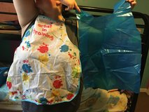Kid paint smocks in Fort Campbell, Kentucky