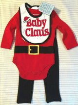 NEW 3 Pc Baby Claus Christmas Outfit Size 6 Mos in Beaufort, South Carolina