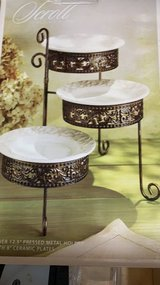***BRAND NEW***Elegant Scroll Design Serving Tier Plates*** in The Woodlands, Texas