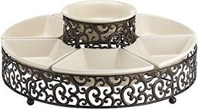 ***BRAND NEW***Elegant 7-Piece Section Serving Platter Ceramic Chip and Dip Set*** in The Woodlands, Texas