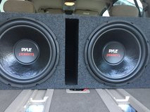 """Two 15"""" 2000w each subs 1000w rms each in Fort Leonard Wood, Missouri"""