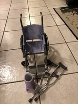 American Girl  wheelchair w/ crutches and a boot in Batavia, Illinois