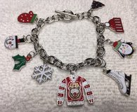 FREE SHIPPING Charm Bracelet Christmas Nine Charms Full Color Christmas Related Toggle Clasp in Kingwood, Texas