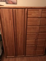 Wardrobe with drawers solid oak in Travis AFB, California