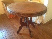 Antique oval table in Chicago, Illinois