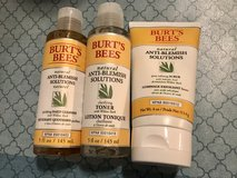 Lot of Burt's Bees Anti Blemish Skin Care- Scrub, Cleanser, Toner Brand New in Travis AFB, California