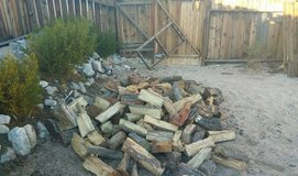 big load of fire wood in Yucca Valley, California