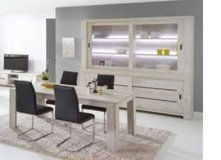 United Furniture - Gabriel - Extra Large China + Table 160 - 4 Chairs (black or white) incl.del in Heidelberg, GE
