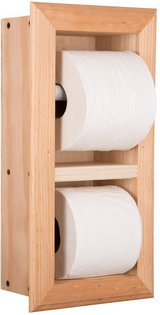 Recessed Double Toilet Paper  Holder - SOLID pine unfinished in Kingwood, Texas