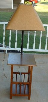 end table lamp / magazine rack / wood night stand / endtable in Byron, Georgia
