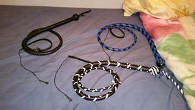 Bull Whips 5FT All Buffalo hide with removable/replaceable fall and cracker in Alamogordo, New Mexico