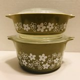 Pyrex Spring Blossom Crazy Daisy Covered Baking Dishes in Bolingbrook, Illinois