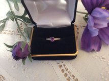 Amethyst and Diamond Ring 14K in Chicago, Illinois