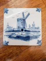 REDUCED TILE Dutch Delft Windmill in 29 Palms, California