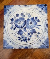 REDUCED TILE Dutch Delft floral in 29 Palms, California