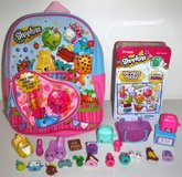 Like New! Shopkins Mini Backpack - Puzzle - 17 Figures + 4 Accessories in Orland Park, Illinois