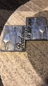 TWo silver wine plaques in Yorkville, Illinois