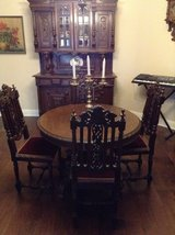 China cabinet table 4 chairs in Arlington, Texas