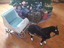 American girl/ OG Christmas carriage and horse set in Naperville, Illinois