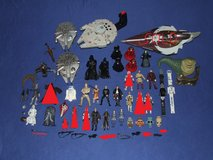 Stars Wars Toy Assortment Millenium Falcon Luke Han Darth R2-D2 Action Figurines Plus Much More in Naperville, Illinois