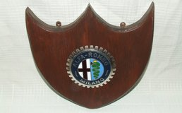 Vintage Alfa-Romeo ~ Milano ~ Sports Car Grill Badge Mounted on Plaque in Chicago, Illinois