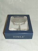 Towle Full Lead Crystal Wine Bottle Decanter Stopper & Coaster ~ NEW in St. Charles, Illinois
