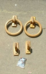 wood towel ring holder with hooks in Byron, Georgia