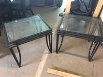 two metal glass and tables in 29 Palms, California