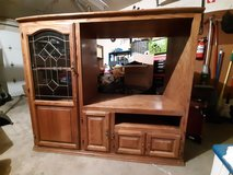 Solid Oak Entertainment Center in Tinley Park, Illinois