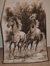 Blanket (Horse) 200x135cm (Perfect Condition, used as bed decoration) in Wiesbaden, GE