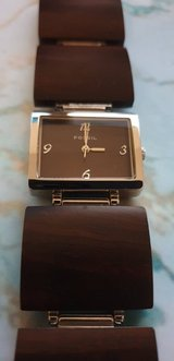 Women's Fossil watch - wood band in Fort Drum, New York
