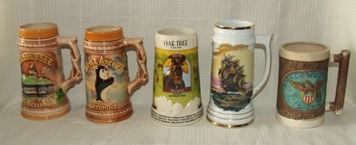 Stein Mug Collection Wyoming Tennessee Sailing Ship Santa Anita Race track Eagle in Westmont, Illinois