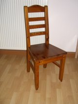8 matching ladderback chairs in Ramstein, Germany
